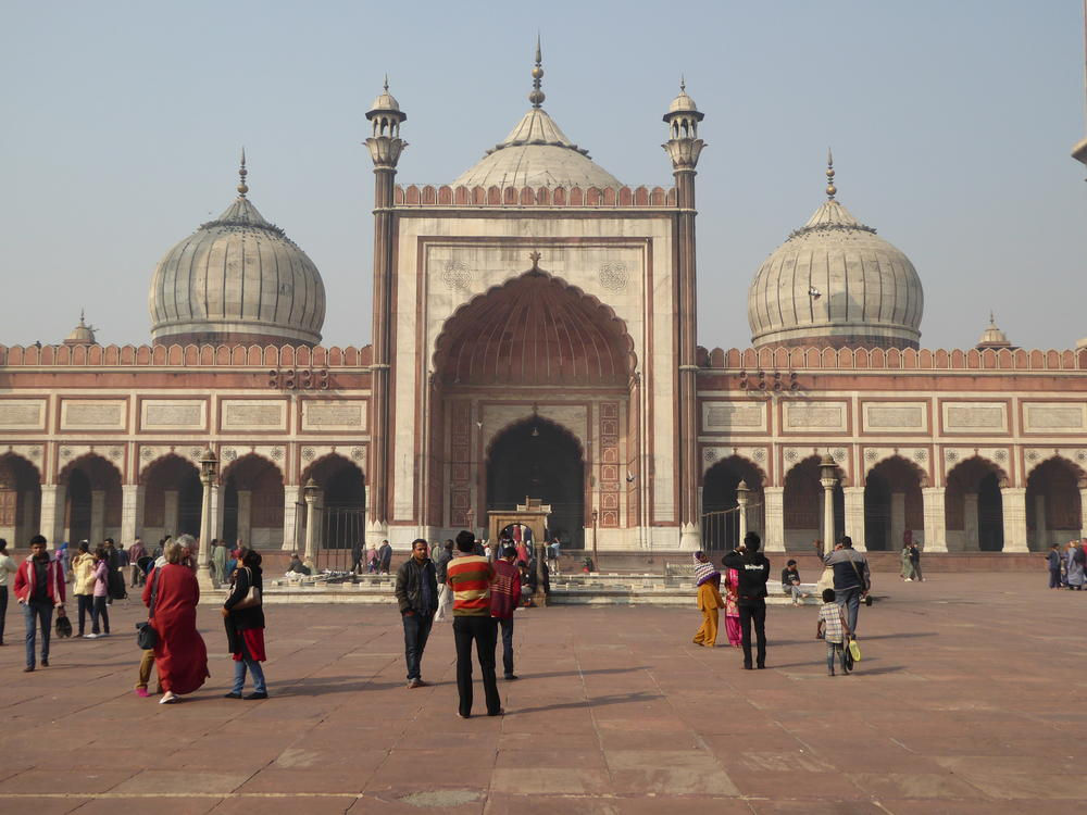 India's largest mosque, the Jama Masjid, Old Delhi