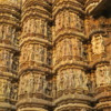 Some of the sculpted details from the Temples of Khajuraho