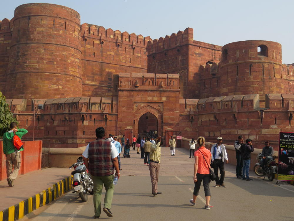 Visiting the Red Fort, Agra
