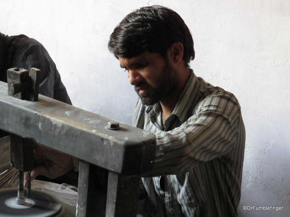 Gem-cutter at work, Jaipur