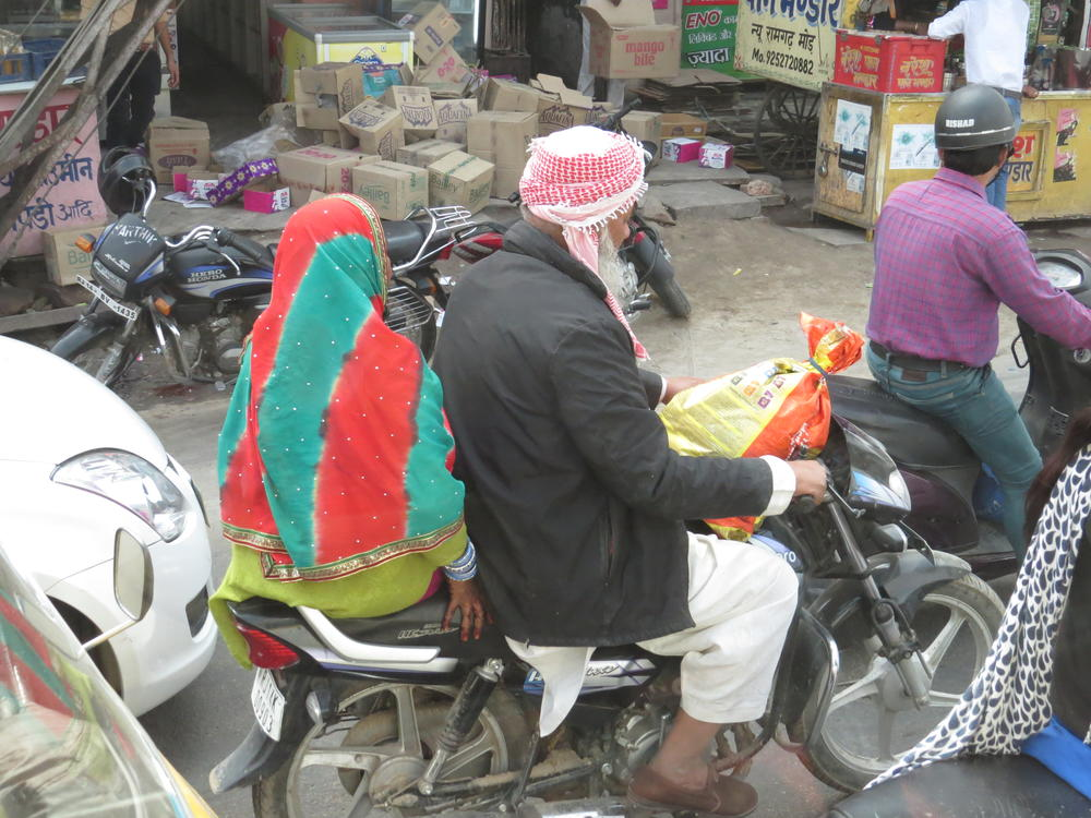 "A colorful pair of ""easy riders"", Rajasthan"