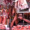 Slicing jamon (an art), La Boqueria Market, Barcelona