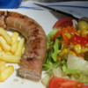And my wife enjoyed her grilled sausage, salad and fries