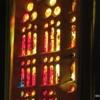 One of many stained glass windows, La Sagrada Familia, Barcelona