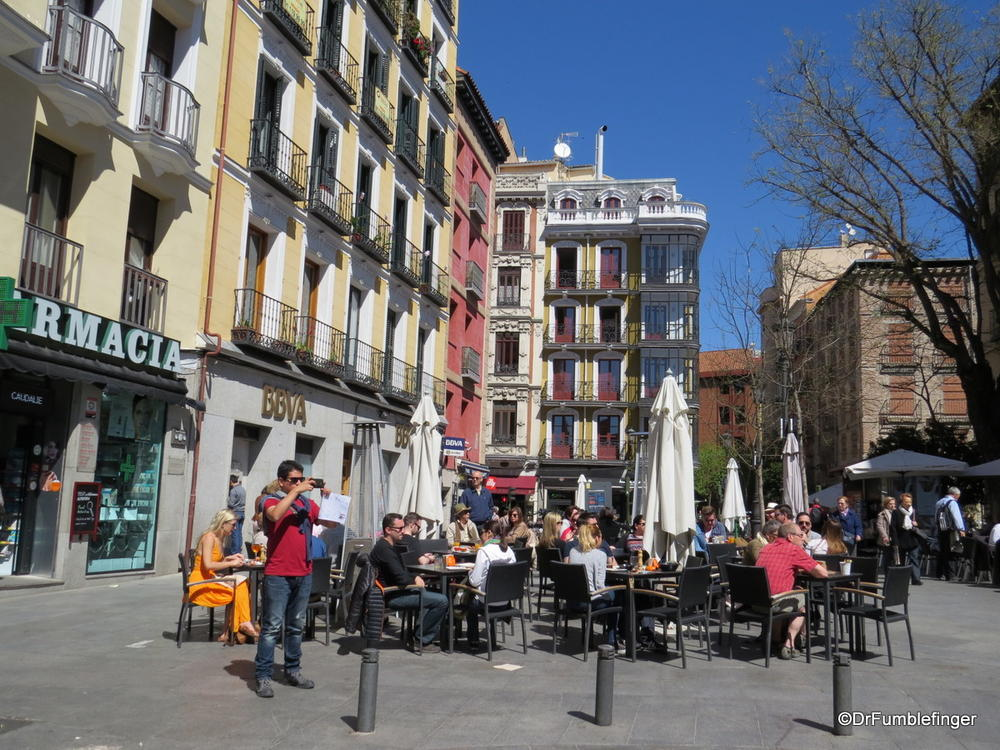 Enjoying The Nice Weather Of A Spring Day Madrid
