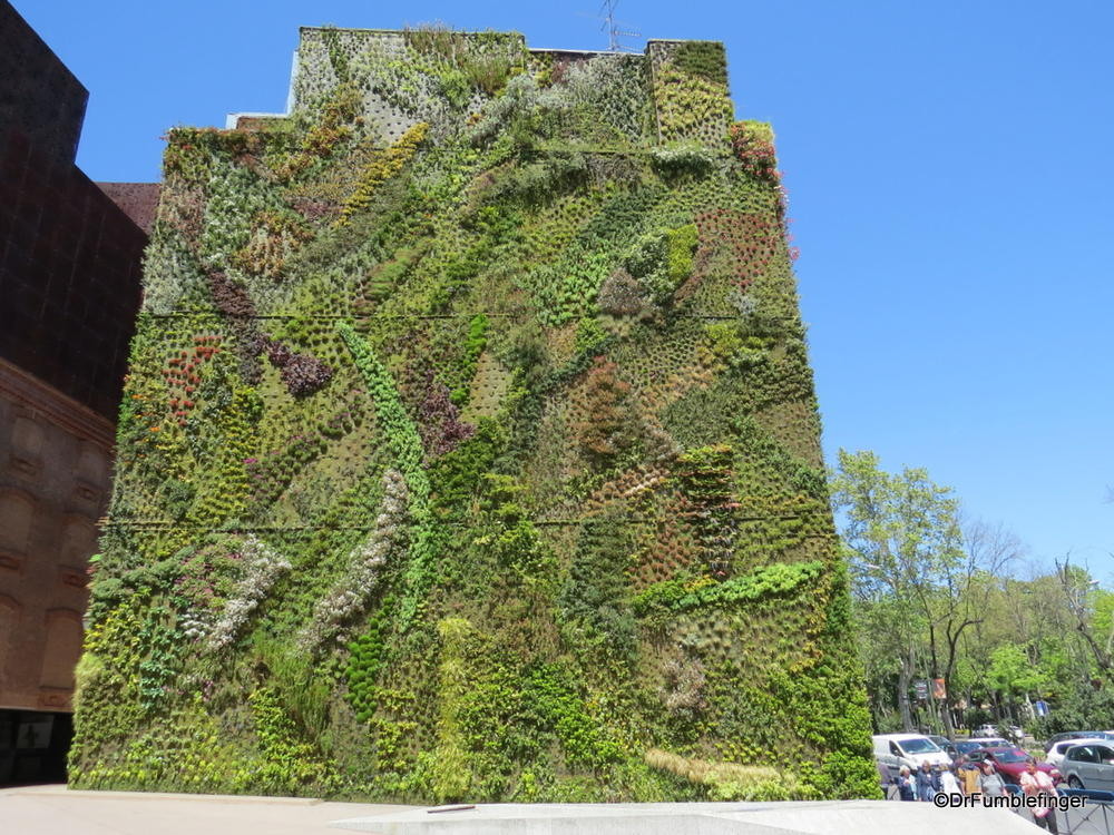 A garden growing vertically on a wall?  You betcha!  The Caixaforum in Madrid