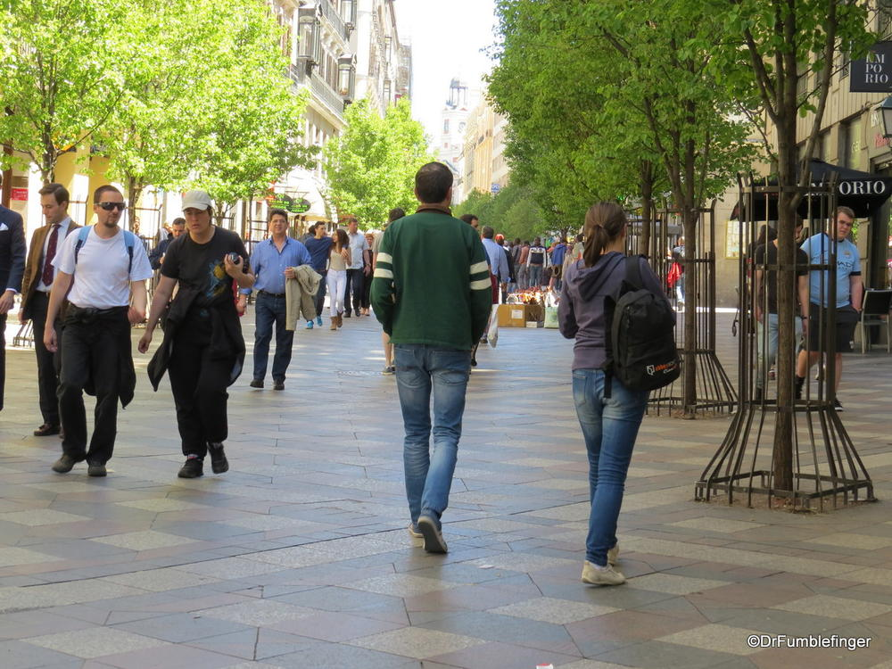 A stroll down one of Madrid's many pedestrianized streets
