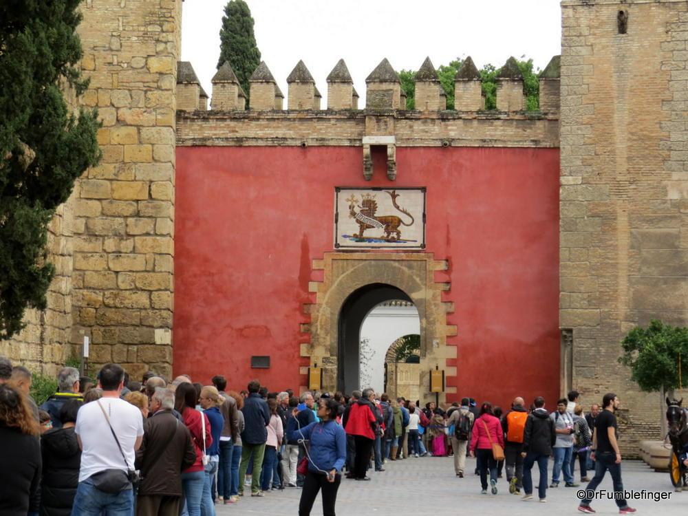 Entrance to Seville's ancient Alcazar