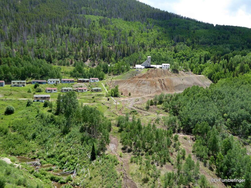 Ghost mining town of Gilman, Colorado