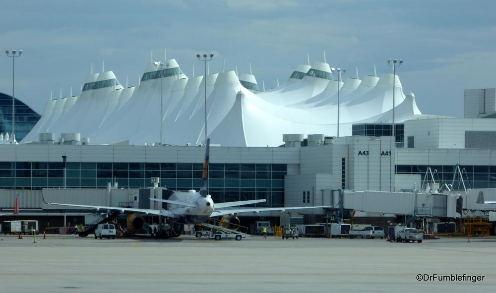 The billowy roof, iconic symbol of Denver International Airport