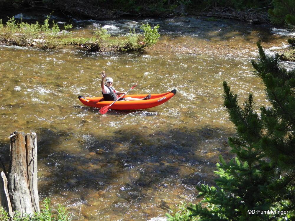 Kayaking on Gore Creek, Vail