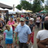 A very crowded Saturday morning at Boulder's Farmers' Market