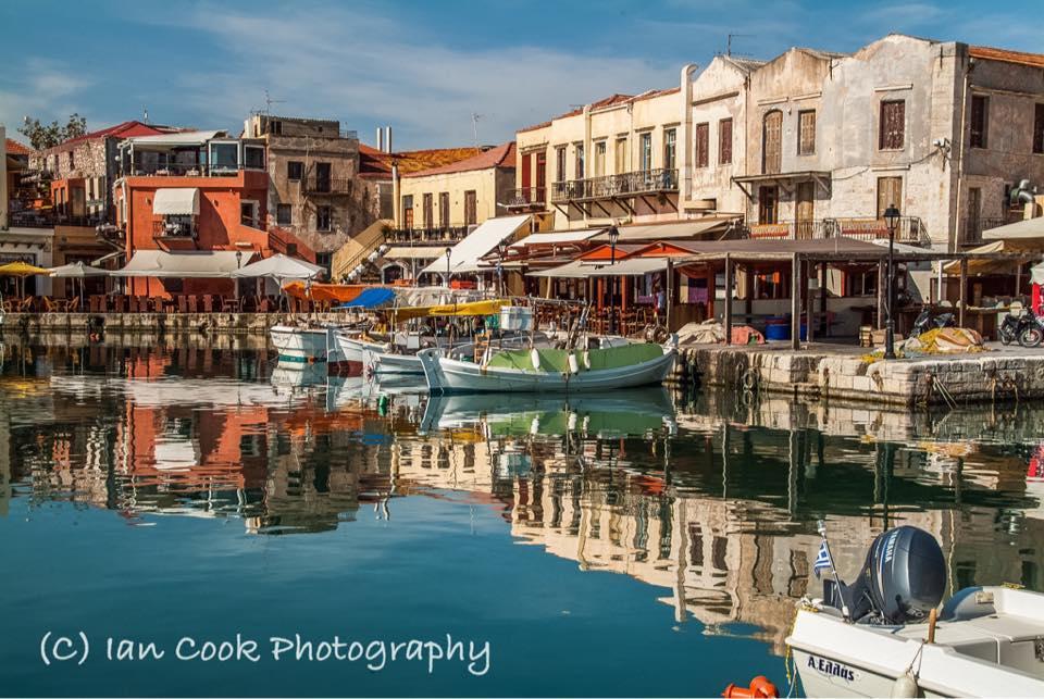 Old Venetian Port at Rethymnon, Crete, Greece.