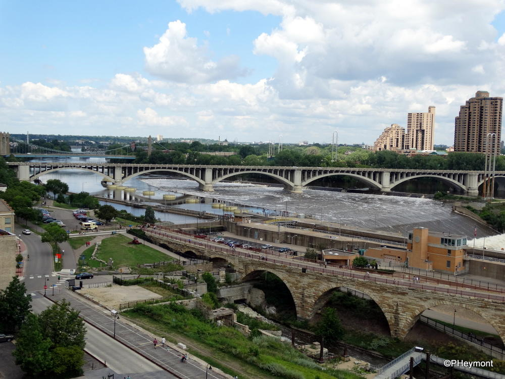 Mississippi River at Minneapolis, with Saint Anthony Falls