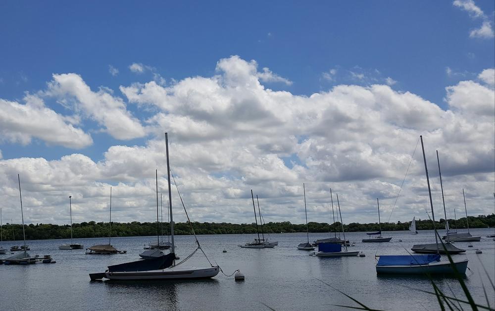 Boats, Clouds, Blue Blue Sky