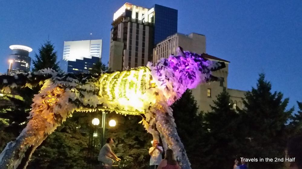 The Wolf, Lit at Night