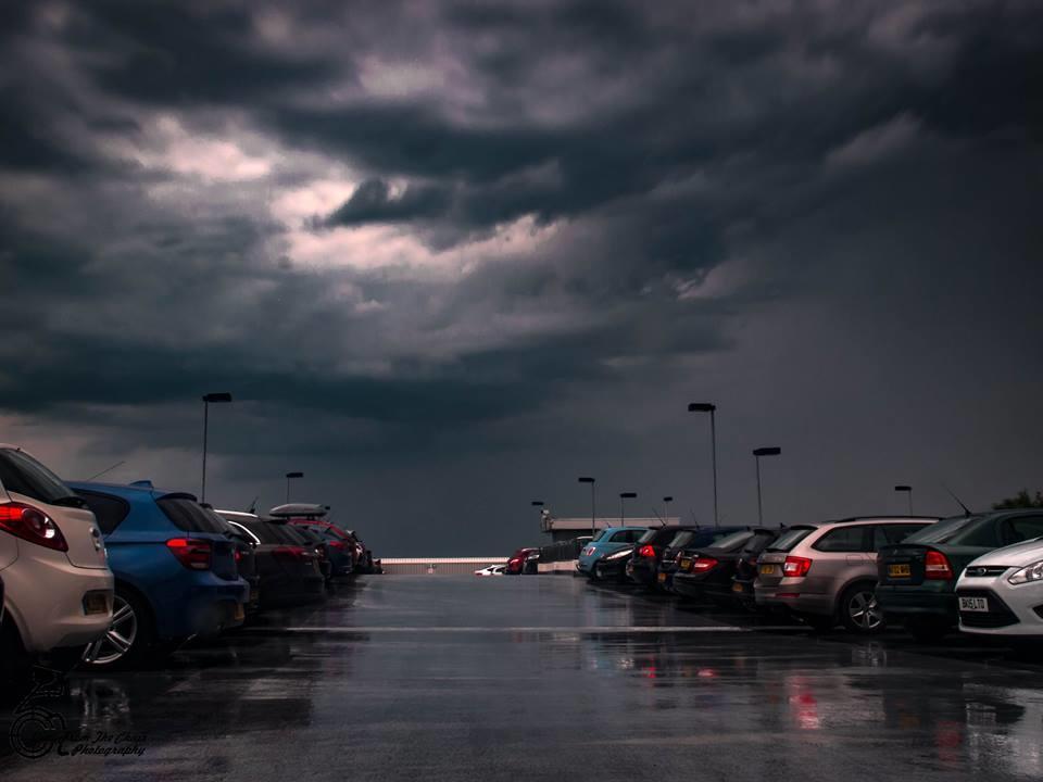 Storm over Newcastle Upon Tyne,UK