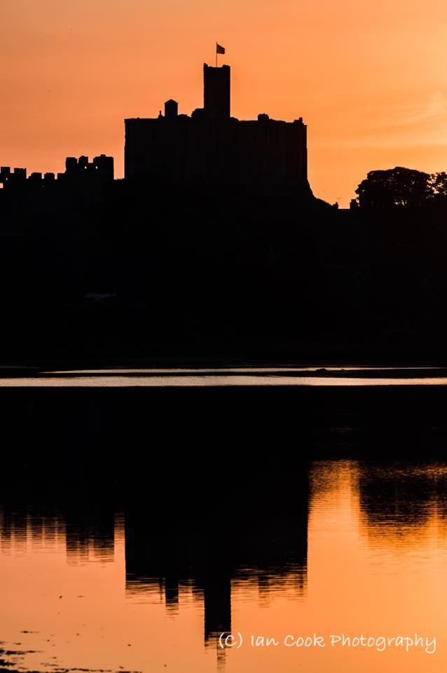 Sunset, Warkworth Castle, Northumberland, UK.