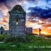 Sunset last night, Codger Castle, Northumberland.