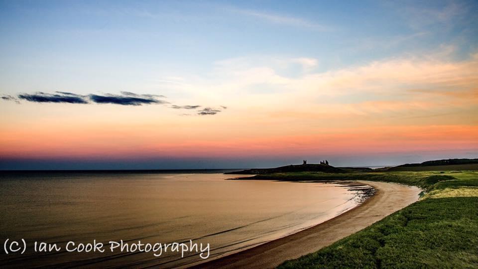 Last light. Embleton Bay Northumberland. Half an hour after sunset