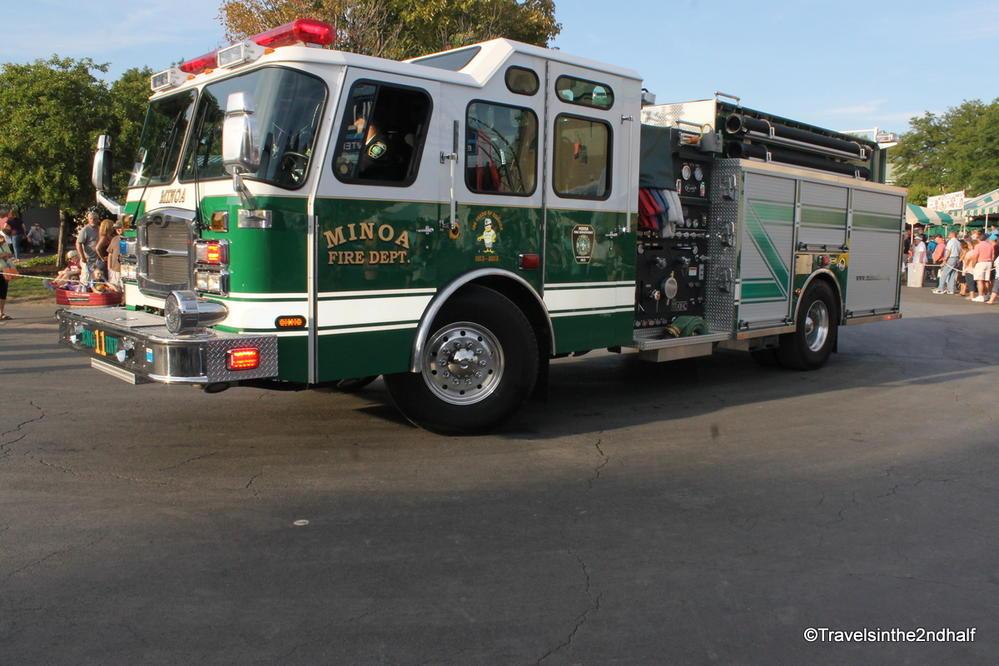 A green fire truck?