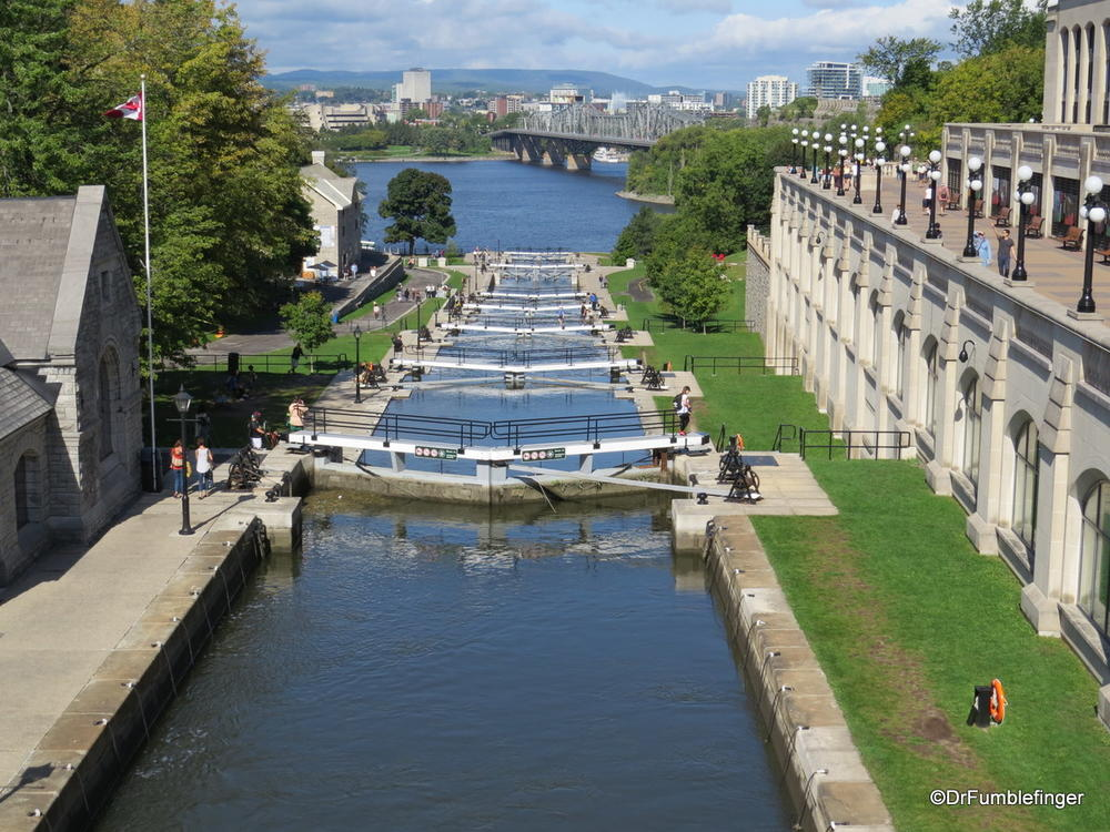 Rideau Canal, Ottawa.  A UNESCO World Heritage Site