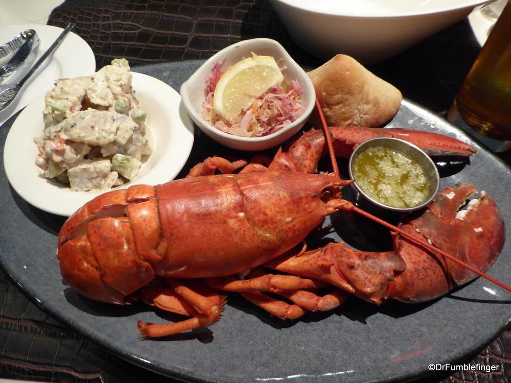 A Maritime staple -- lobster dinner.  Halifax
