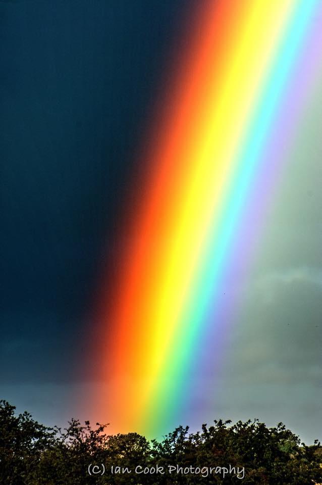 A vivid rainbow, Alnmouth, Northumberland