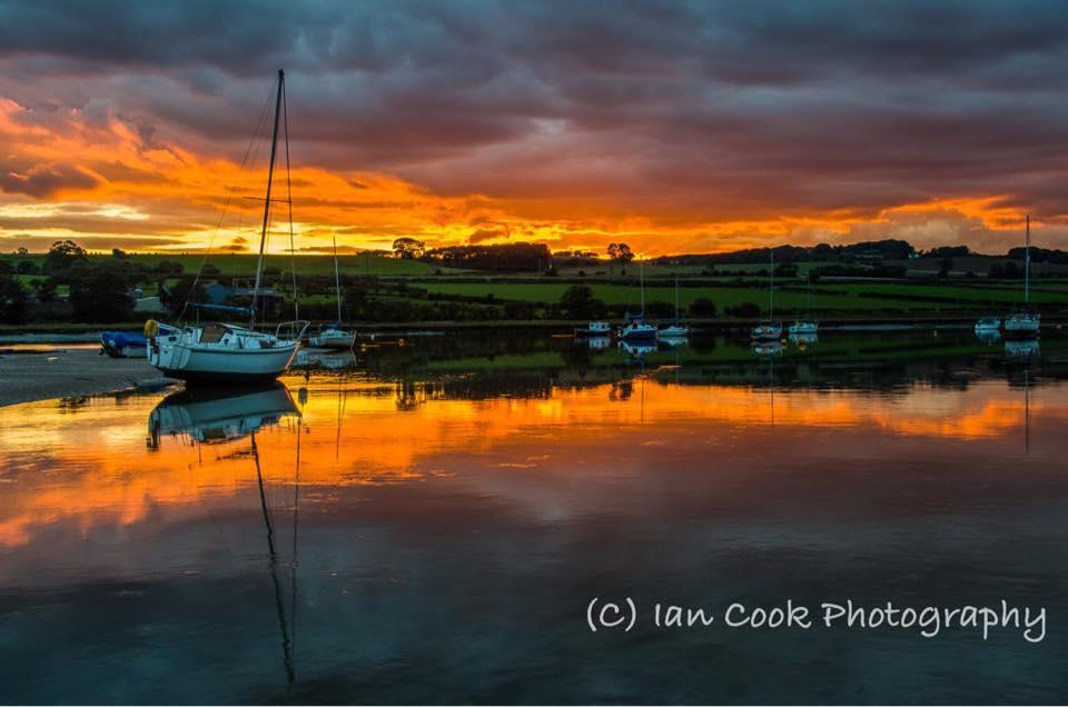 Alnmouth Estuary, Northumberland, UK.