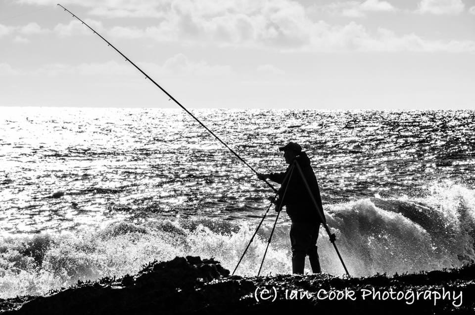 Fishing. Cullernose Point, Northumberland