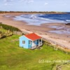 The beach hut, Foxton, Northumberland, UK