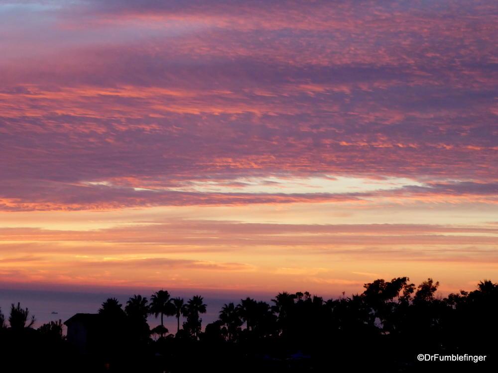 Sunset viewed from Newport beach