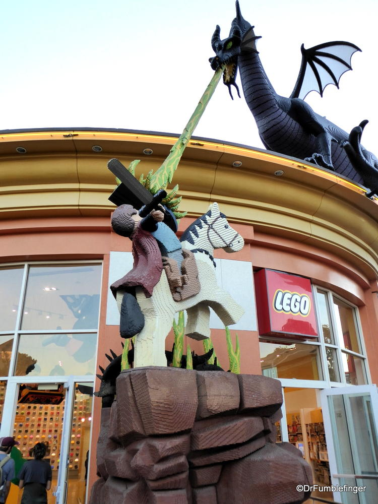 St George and the Dragon, made entirely of Legos, Downtown Disney, Anaheim