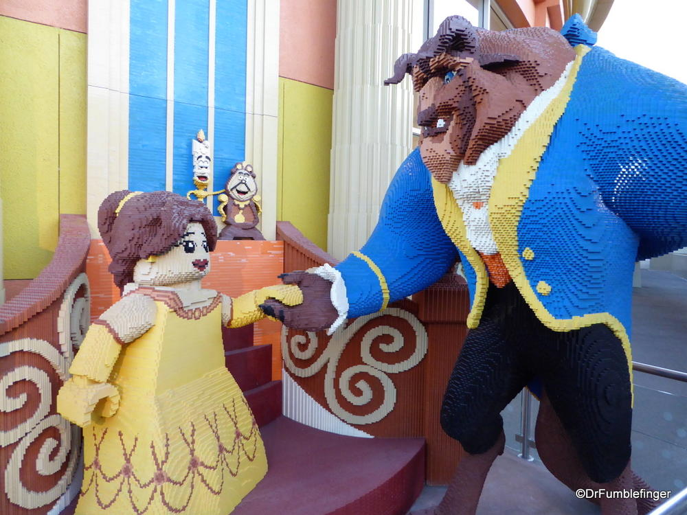Beauty and the Beast, made entirely of Legos, Downtown Disney, Anaheim