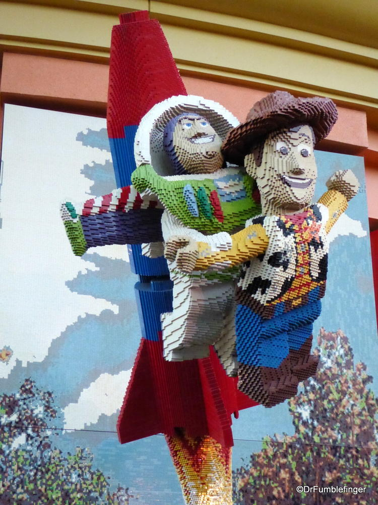 Buzz and Woody, made entirely of Legos, Downtown Disney, Anaheim
