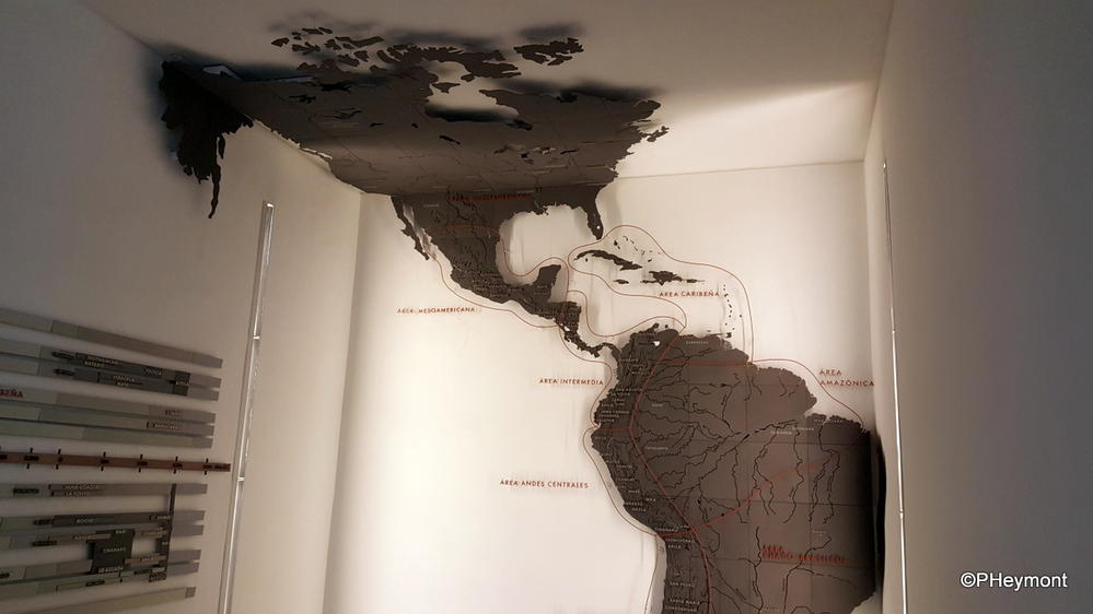 An unusual map of the Americas