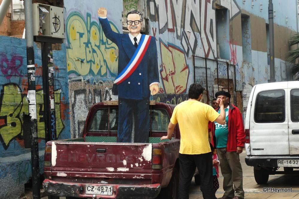 Allende in Valparaiso, Chile