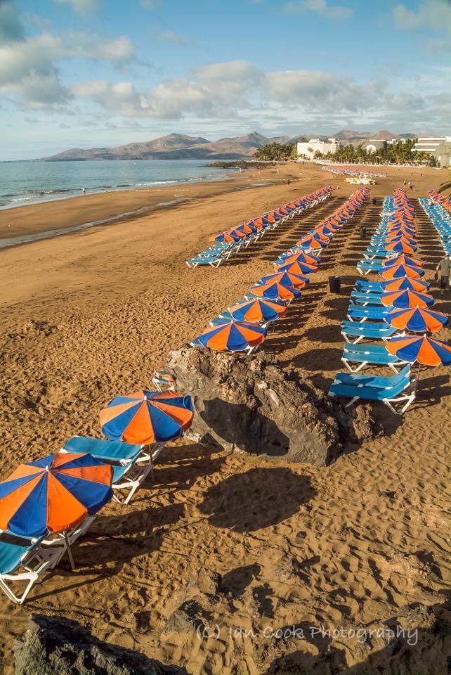 Early morning at Playa de los Pocillos, Lanzarote, Canary Islands, Spain