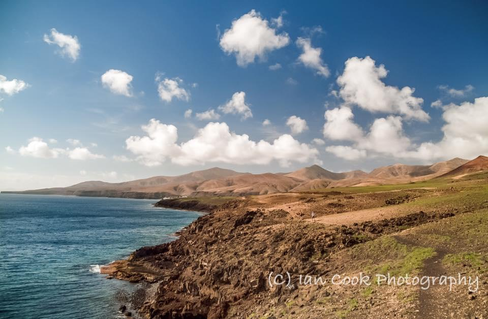 Volcanic landscape from Puerto Calero to Playa Quemada footpath, Lanzarote, Canary Islands, Spain