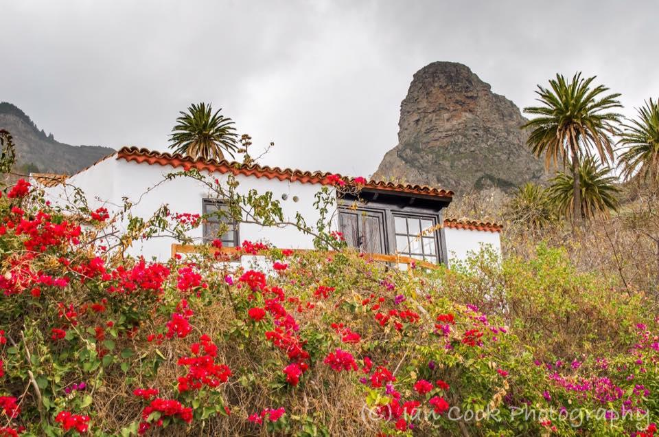Typical country cottage high in the mountains near Guarimiar, Gomera, Canary Islands, Spain