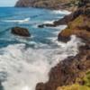 Coastline from Playa Bollulo Puerto de la Cruz, Tenerife, Canary Islands, Spain.
