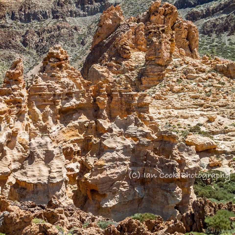 Volcanic Rock formation below Mount Guajara, Las Canadas Del Teide, Tenerife, Canary Islands, Spain.
