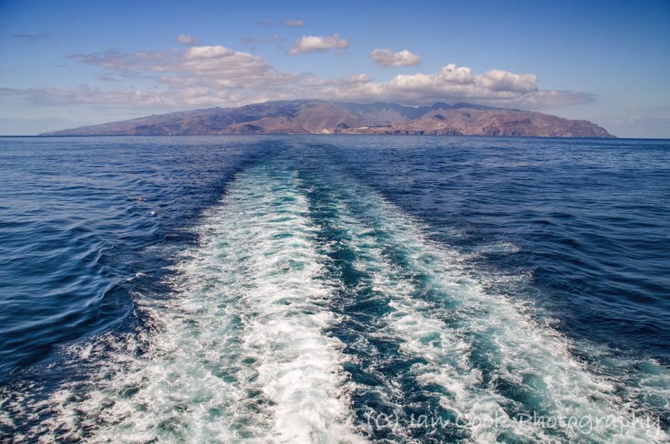 The Island of Gomera, Canary Islands. Taken from the back of the Ferry enroute back to Tenerife to go to the Airport.