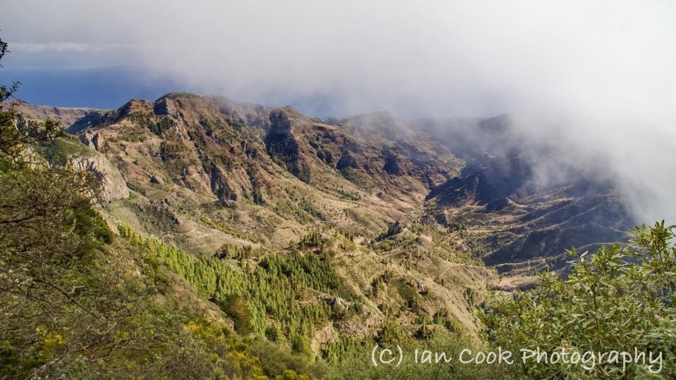 View from Mirador Roque de Agando, looking towards Benchijigua, Gomera, Canary Islands