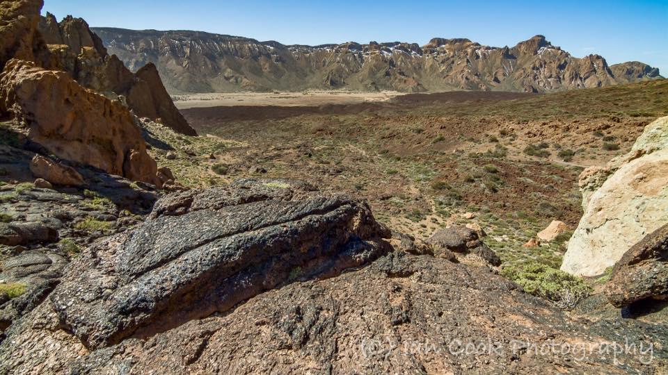 Toffee rock in La Caldera Las Canadas Del Teide, Tenerife, Canary Islands