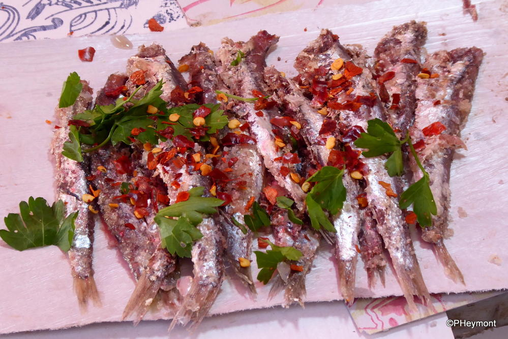 Anchovies dressed to thrill