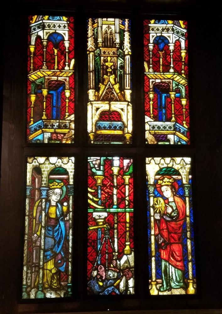 Ancient stained glass, Vienna