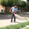 Keeping the walk clean, Abu Dhabi
