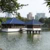 Beautiful Seemamalaka Buddhist Temple on Beira Lake,  Colombo