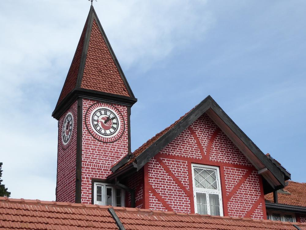 An architectural icon of the British era.  The 19th century post office building in Nuwara Eliya